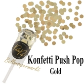Konfetti Push Pop, gold