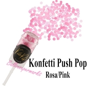 Konfetti Push Pop, rosa/pink