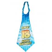 Riesen-Krawatte Super 18 Happy Birthday zum 18. Geburtstag