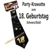 Party-Krawatte zum 18. Geburtstag, Schwarz/Gold
