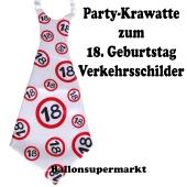 Riesen-Krawatt zum 18. Geburtstag mit Verkehrsschildern