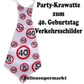 Riesen-Krawatt zum 40. Geburtstag mit Verkehrsschildern