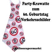 Riesen-Krawatt zum 60. Geburtstag mit Verkehrsschildern