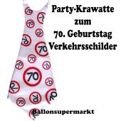 Riesen-Krawatt zum 70. Geburtstag mit Verkehrsschildern