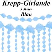 Krepp-Girlande Blau, 3 Meter