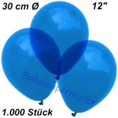 Luftballons Kristall, 30 cm, Blau, 1000 Stück