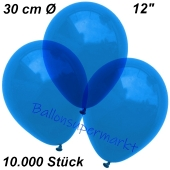 Luftballons Kristall, 30 cm, Blau, 10000 Stück