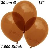 Luftballons Kristall, 30 cm, Braun, 1000 Stück