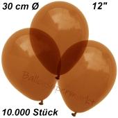 Luftballons Kristall, 30 cm, Braun, 10000 Stück