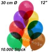 Luftballons Kristall, 30 cm, Bunt gemischt, 10000 Stück