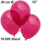 Luftballons Kristall, 30 cm, Burgund, 10000 Stück