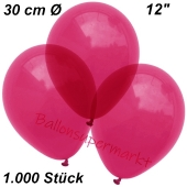 Luftballons Kristall, 30 cm, Burgund, 1000 Stück
