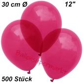 Luftballons Kristall, 30 cm, Burgund, 500 Stück