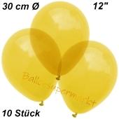 Luftballons Kristall, 30 cm, Gelb, 10 Stück