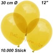 Luftballons Kristall, 30 cm, Gelb, 10000 Stück