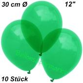 Luftballons Kristall, 30 cm, Grün, 10 Stück