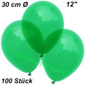 Luftballons Kristall, 30 cm, Grün, 100 Stück