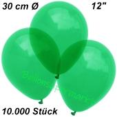 Luftballons Kristall, 30 cm, Grün, 10000 Stück