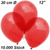 Luftballons Kristall, 30 cm, Hellrot, 10000 Stück