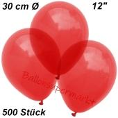 Luftballons Kristall, 30 cm, Hellrot, 500 Stück