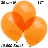 Luftballons Kristall, 30 cm, Orange, 10000 Stück