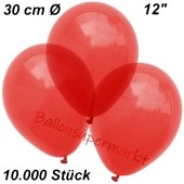 Luftballons Kristall, 30 cm, Rot, 10000 Stück