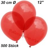 Luftballons Kristall, 30 cm, Rot, 500 Stück