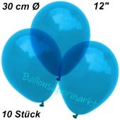 Luftballons Kristall, 30 cm, Royalblau, 10 Stück