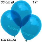Luftballons Kristall, 30 cm, Royalblau, 100 Stück