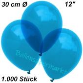 Luftballons Kristall, 30 cm, Royalblau, 1000 Stück