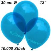 Luftballons Kristall, 30 cm, Royalblau, 10000 Stück