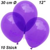 Luftballons Kristall, 30 cm, Violett, 10 Stück