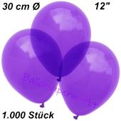 Luftballons Kristall, 30 cm, Violett, 1000 Stück