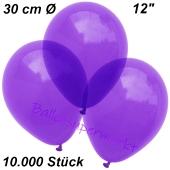 Luftballons Kristall, 30 cm, Violett, 10000 Stück