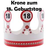 Partykrone zum 18. Geburtstag mit Verkehrsschildern