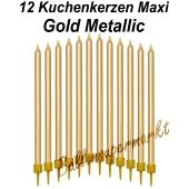 Kuchenkerzen Maxi Gold