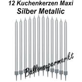 Kuchenkerzen Maxi Silber
