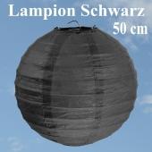 XL Lampion Schwarz, 50 cm