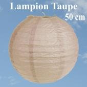 XL Lampion Taupe, 50 cm