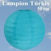 XL Lampion Türkis, 50 cm