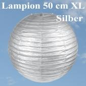 XL Lampion Silber, 50 cm