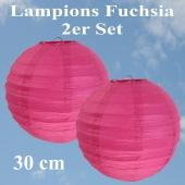Lampions Fuchsia, 30 cm, 2er Set