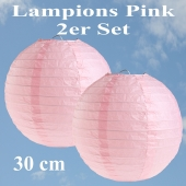 Lampions Pink, 30 cm, 2er Set