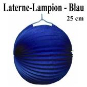 Laterne-Lampion Blau, 25 cm
