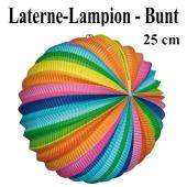 Laterne-Lampion Bunt, 25 cm