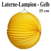 Laterne-Lampion Gelb, 25 cm