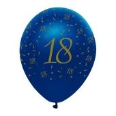 Luftballons Blau zum 18. Geburtstag