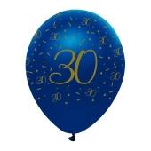 Luftballons Blau zum 30. Geburtstag