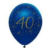 Luftballons Blau zum 40. Geburtstag