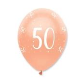 Luftballons Rosegold zum 50. Geburtstag